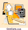 Vector Clip Art graphic  of a cooking equipment