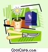 Vector Clip Art picture  of a gardening