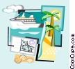 Vector Clipart graphic  of a travel
