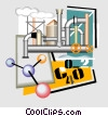 Vector Clipart image  of a industrial plant