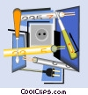 electrical equipment Vector Clip Art picture