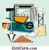 constriction equipment Vector Clipart graphic