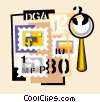 stamp collection Vector Clip Art picture