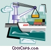Vector Clip Art graphic  of a shipping