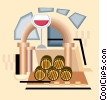 Vector Clipart image  of a wine cellar