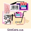 Vector Clipart graphic  of a shopping