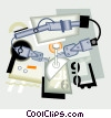 Vector Clipart illustration  of a industrial
