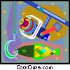 Vector Clipart illustration  of a fishing