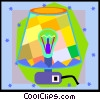 Vector Clipart illustration  of a lamp