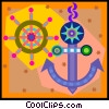 Vector Clip Art graphic  of a nautical equipment