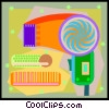 Vector Clipart graphic  of a blow dryer