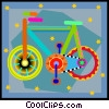 Vector Clip Art image  of a bicycle