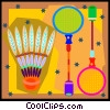 Badminton set Vector Clip Art picture