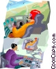 flight simulator Vector Clipart illustration