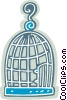 Vector Clipart illustration  of a bird cage