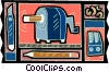 Vector Clip Art graphic  of a pencil sharpener motif