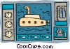 submarine depths gauges oxygen and diving gear Vector Clip Art image