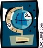 Vector Clip Art image  of a globe