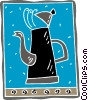 Vector Clip Art picture  of a kettle motif