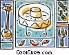 Vector Clipart illustration  of a Mexican motif with sombrero