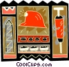 Vector Clipart graphic  of a mining motif