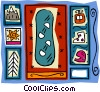 Vector Clip Art graphic  of a winter motif