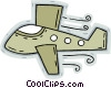 Vector Clipart illustration  of an airplane
