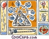 Vector Clipart graphic  of a carnival motif