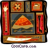 Vector Clipart graphic  of a Egyptian motif