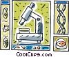 science motif Vector Clipart image