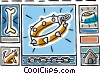 Vector Clipart image  of a dog collar