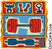 Vector Clip Art picture  of a weight training dumbbells
