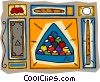 Billiard balls cue lamp pool table Vector Clip Art image