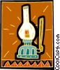 Vector Clipart illustration  of a coal oil lamp