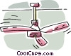 Vector Clipart graphic  of a ceiling fan