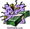 money, bills, coins Vector Clipart picture