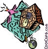 Vector Clip Art image  of a coo coo clock