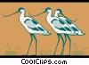 cranes Vector Clip Art graphic