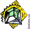 Vector Clip Art image  of a diamond