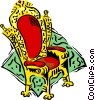 Vector Clipart illustration  of a kings chair