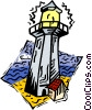 Vector Clipart image  of a light house