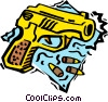 Vector Clipart picture  of a gun with bullets