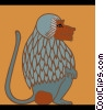 baboon Vector Clip Art picture