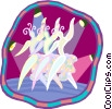 Vector Clip Art graphic  of a chorus line