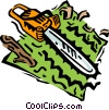 chainsaw Vector Clipart illustration