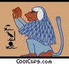 Vector Clip Art picture  of a Egyptian lion with