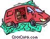 mini van Vector Clip Art picture