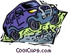 Vector Clip Art graphic  of a four wheel drive truck