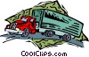 Vector Clip Art picture  of a transport truck