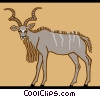 Vector Clip Art picture  of a yak